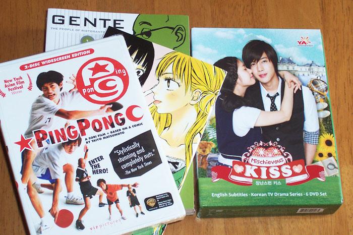 Manga, J-Film, and K-drama