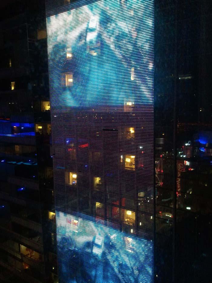 Transformers billboard at JW Marriott LA Live.