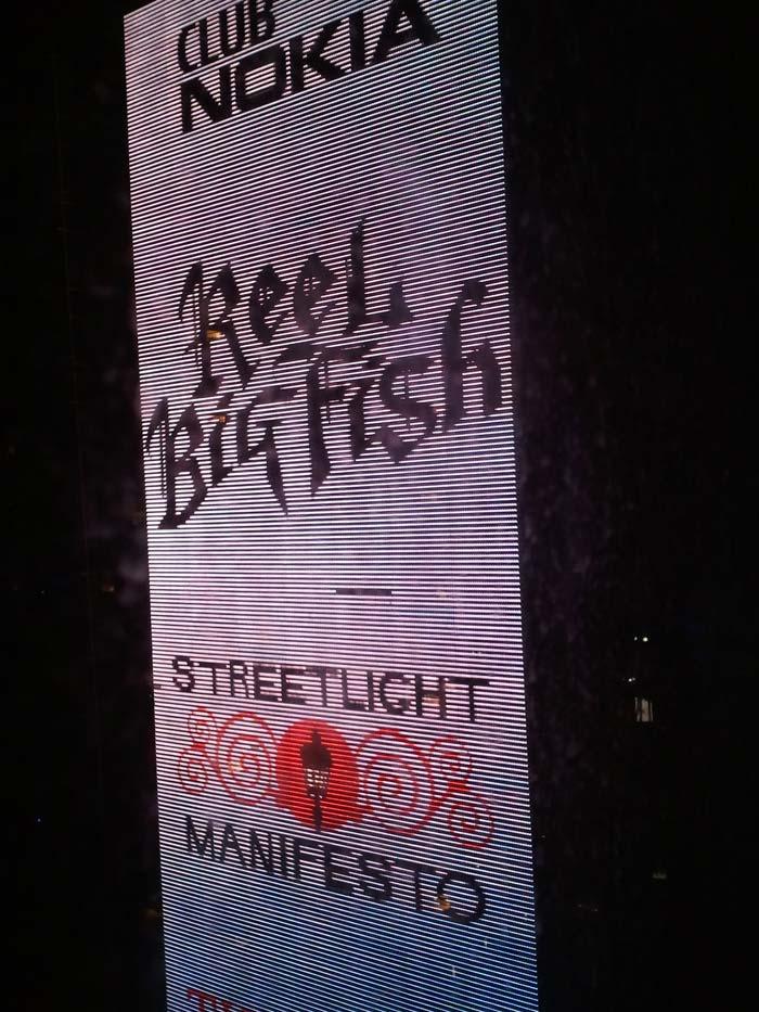 Reel Big Fish at Club Nokia/LA Live billboard.