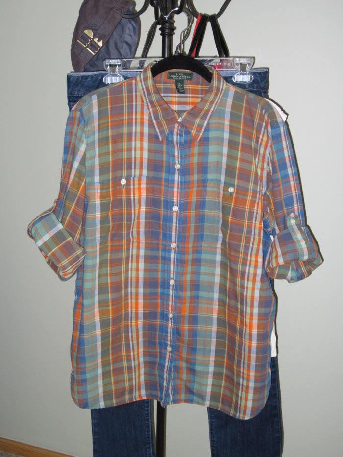 Orange & Blue Plaid - Fall 2013