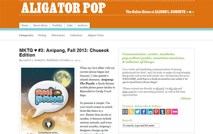 Aligator Pop - New Layout - Fall 2013