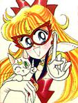 Sailor V (& Artemis) by Naoko Takeuchi